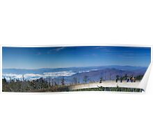 Observation Deck on Clingman's Dome Poster
