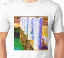 Vibrant Timber Harbour Bollards Unisex T-Shirt