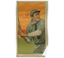 Benjamin K Edwards Collection Big Jeff Pfeffer Chicago Cubs baseball card portrait Poster