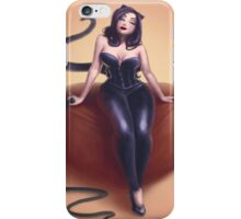 Cat woman pin up iPhone Case/Skin