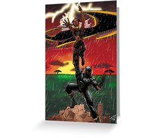 Black Panther & Storm Greeting Card