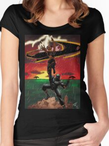 Black Panther & Storm Women's Fitted Scoop T-Shirt