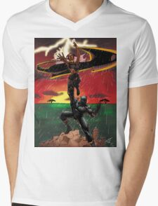 Black Panther & Storm Mens V-Neck T-Shirt