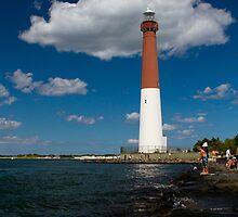 Fishing at Barnegat Lighthouse by Mark Van Scyoc