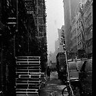 tribeca in snow by Brian Burke