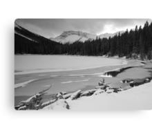 Snowy Elbow Lake Canvas Print