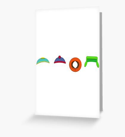 South Park Hats Greeting Card