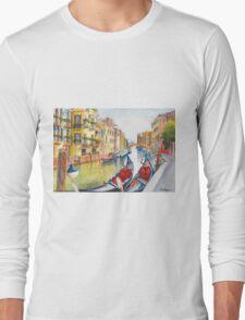 Fondamenta Bragadin, Venezia, Italia Long Sleeve T-Shirt