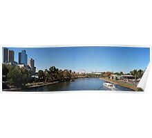 View from Princes Bridge, Melbourne Poster