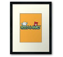 Geekz and Gamez Logo Framed Print