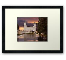 Manti Temple Sunset Reflection 20x24 Framed Print