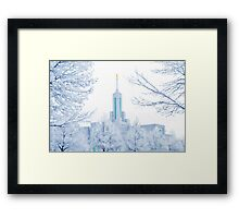 Mt. Timpanogos Temple Frosted Trees 20x30 Framed Print