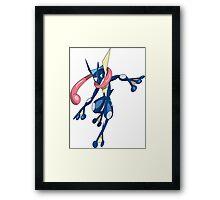 Jump Man Greninja  Framed Print