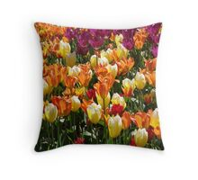 A Tulip Display Throw Pillow