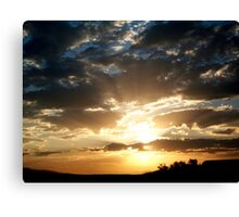 Golden Highlights Lighting the Way Canvas Print