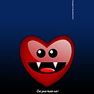 EAT YOUR HEART OUT (PHONECASE) by peter chebatte