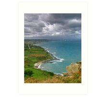 Cherbourg Coastline Art Print