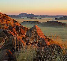 sunset on the Namib Desert by supergold
