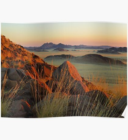 sunset on the Namib Desert Poster