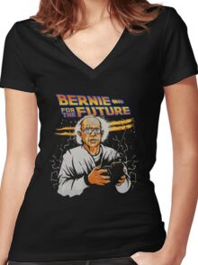 Bernie For The Future Women's Fitted V-Neck T-Shirt