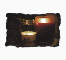 Holly Leaves and Candles All Aglow Kids Clothes