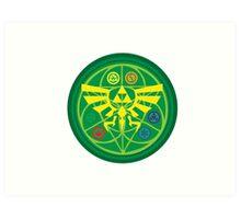 Zelda Ocarina of Time Emblem  Art Print