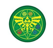 Zelda Ocarina of Time Emblem  by HeribertoM