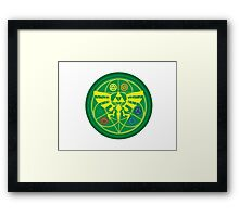 Zelda Ocarina of Time Emblem  Framed Print