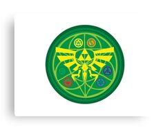 Zelda Ocarina of Time Emblem  Canvas Print