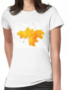 Maple leaves Womens Fitted T-Shirt