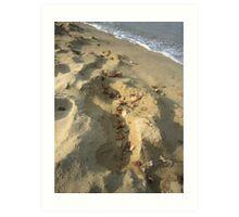 Sand scape Art Print