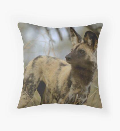 African Wild Dog - South Africa Throw Pillow
