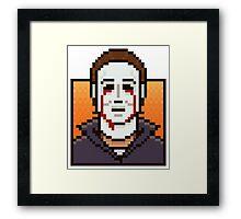 Pixel Michael Myers Framed Print