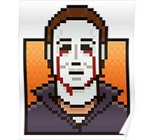 Pixel Michael Myers Poster