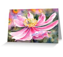 Pink Anemone Greeting Card