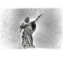 Snowy Drawn Dagger Poster