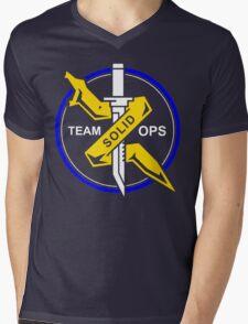 Team Solid Ops Metal Gear Solid Online Shirt Mens V-Neck T-Shirt
