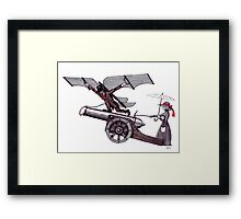 Inspiration pen ink black and white surreal drawing art Framed Print