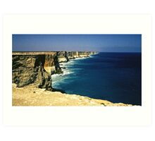 Cliffs of the Great Australian Bight Art Print