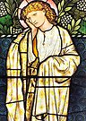 The East Window, Troutbeck Church - Greetings Card by Dave Lawrance