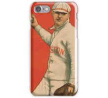 Benjamin K Edwards Collection Bill Carrigan Boston Red Sox baseball card portrait 001 iPhone Case/Skin
