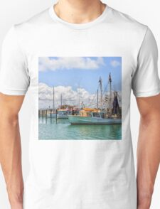 Moored Boats in a beautiful harbour T-Shirt