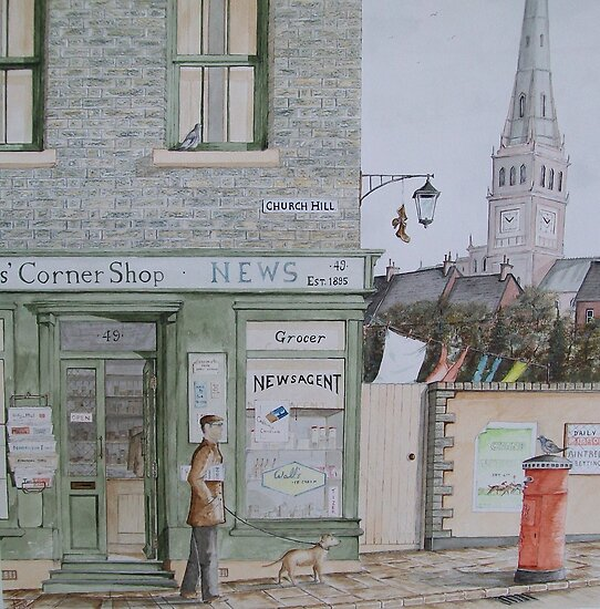 """The corner shop"" by Alan Harris"
