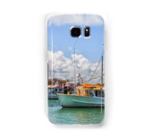 Moored Boats in a beautiful harbour Samsung Galaxy Case/Skin