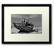 Shingle Sailor Framed Print