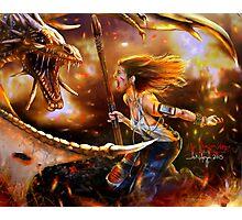 the dragon slayer Photographic Print