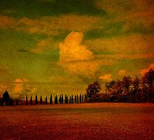 Clouds Over San Galgano-Tuscany by Deborah Downes