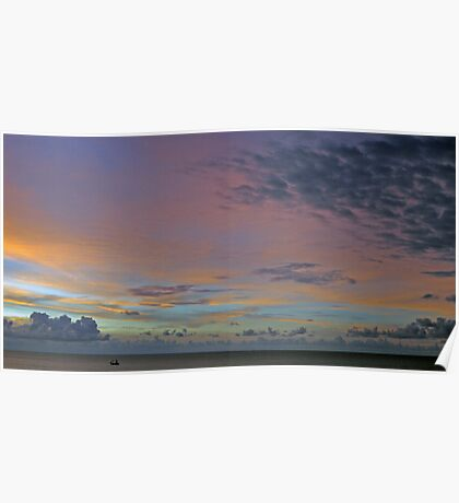 Sunset on the Carribean  Poster