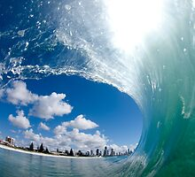 Mermaid Beach Waves by Grant Davis
