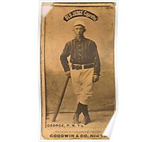 Benjamin K Edwards Collection Bill George New York Giants baseball card portrait 005 Poster